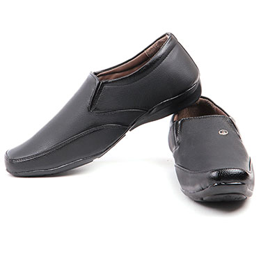 Foot n Style Italian Leather Formal Shoes  FS304 - Black