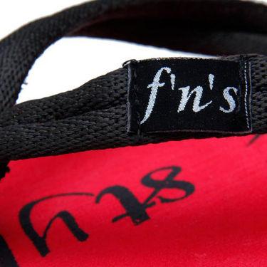 Foot n Style Slippers - Black & Red