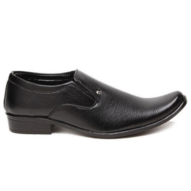 Foot n Style Stylish Slip on Shoes - Black-4937