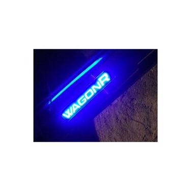 Set of 4 Pcs Suzuki Wagon-R All Models LED Sill Scuff Plates - Blue