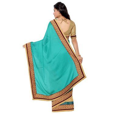Indian Women Crepe Jacquard Printed Saree -GA20107