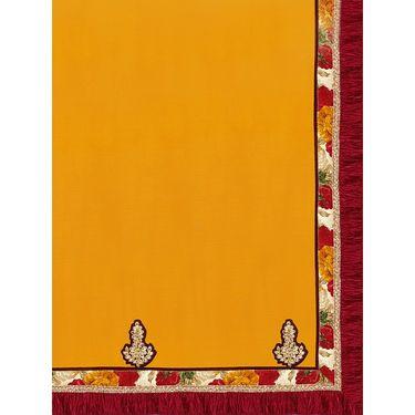 Indian Women Satin Chiffon Printed Saree -GA20108