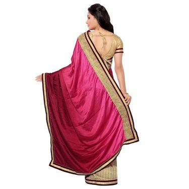 Indian Women Satin Chiffon Printed Saree -GA20116