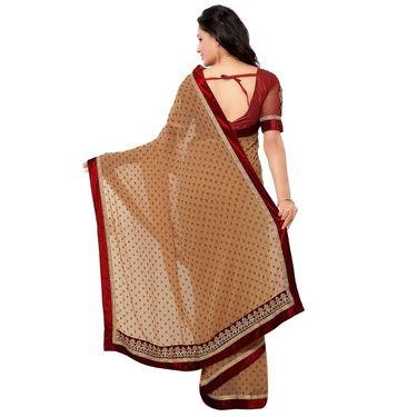 Indian Women Georgette Printed Saree -GA20127