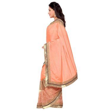 Indian Women Satin Chiffon Printed Saree -GA20135