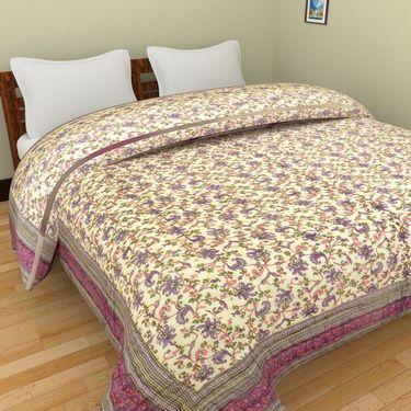 GRJ India Designer Printed Single Bed Quilt-GRJ-SQ-160