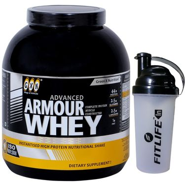 GXN Advance Armour Whey 7 Lb (3.17kgs) Vanilla Flavor + Free Protein Shaker