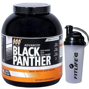 GXN Advance Black Panther 5 Lb (2.26kgs) Strawberry Flavor + Free Protein Shaker