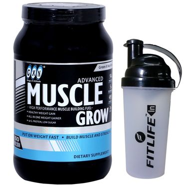 GXN Advance Muscle Grow 2 Lb (907grms) Vanilla Flavor + Free Protein Shaker