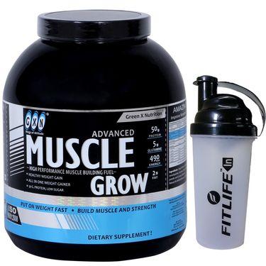 GXN Advance Muscle Grow 6 Lb (2.27kgs) Banana Flavor + Free Protein Shaker