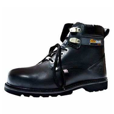 Gasoline Leather Black Boots -osy10