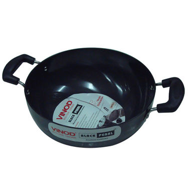 Vinod Cookware Black Pearl  26CM Deep  Kadai Without  Lid   HADKWL26