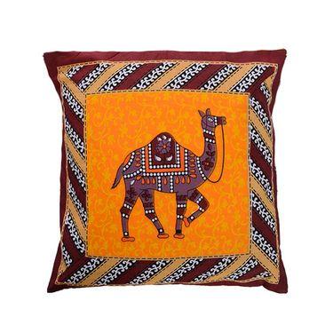 eCraftIndia Camel Printed Set of 5 Cotton Cushion Covers-HF5CC152_A