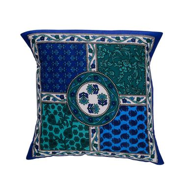 eCraftIndia Floral Design Set of 5 Cotton Cushion Covers-HF5CC172_L
