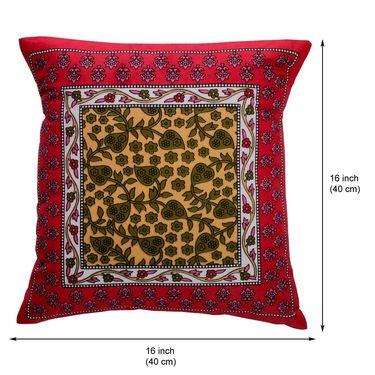 eCraftIndia Leaf Design Set of 5 Cotton Cushion Covers-HF5CC175_K