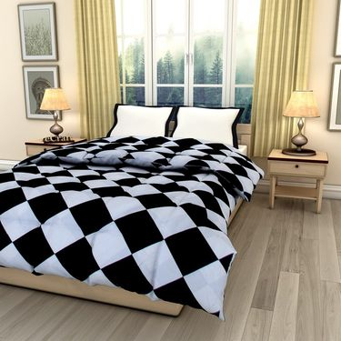 eCraftIndia Designer Printed Single Bed Reversible AC Comforter-HFBC194