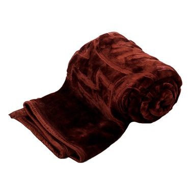 eCraftIndia Designer Printed Single Bed Mink Blanket-HFSMB108
