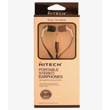 Hitech Air Portable Stereo Earphones - Blue