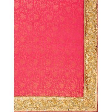 Indian Women Glitter Jaquard Printed Saree -HT71006