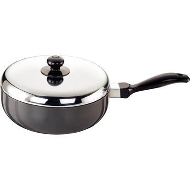 Hawkins Futura Nonstick All-Purpose Pan with SS Lid 2.5L - Black & Silver