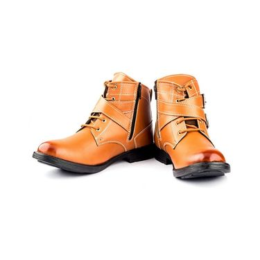 Leather Tan Boots -bn3