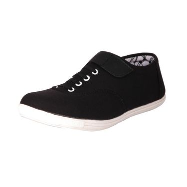 Canvas Black Casual Shoes -bn11