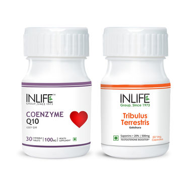 INLIFE Vitality Combo Pack With Coenzyme Q10 & Tribulus Terrestris Supplement