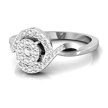 Avsar Real Gold & Swarovski Stone Manipur Ring_I039wb
