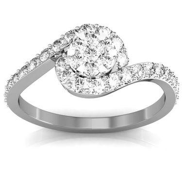 Avsar Real Gold & Swarovski Stone Monika Ring_I052wb