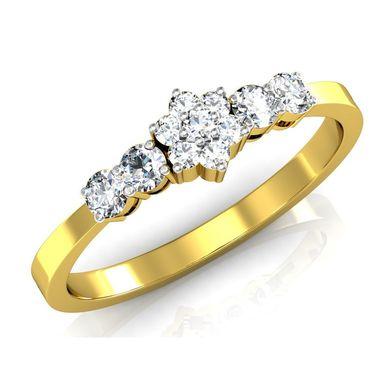 Avsar Real Gold & Swarovski Stone Ratnagiri Ring_I076yb