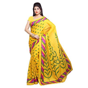 Set of 5 Ishin Bhagalpuri Silk Printed Saree-Combo-31