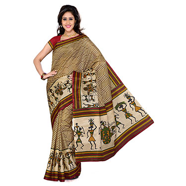 Set of 3 Ishin Bhagalpuri Silk Printed Saree-Combo-37
