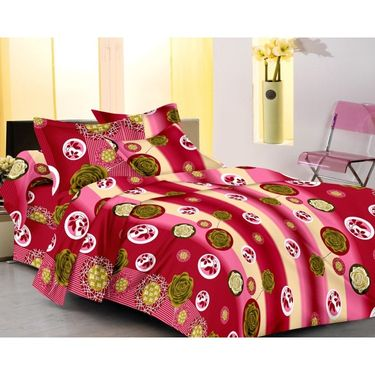 IWS Designer Cotton Printed Double Bedsheet with 2 Pillow cover- IWS-CB-45