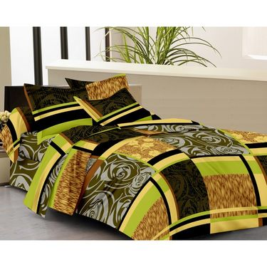 IWS Set of 2 100% Cotton Double Bedsheet with 4 Pillow Cover-IWS-CB-658