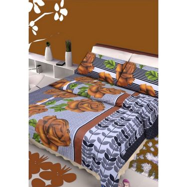 IWS Set of 2 Designer Double Cotton Bedsheet with 4 Pillow cover IWS-CCB-04