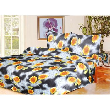 10 Piece Home Decor Combo (IWS 2 Bedsheet with 4 Pillow Covers + 2 Door Curtains + 2 Mats) -IWS-JC-16