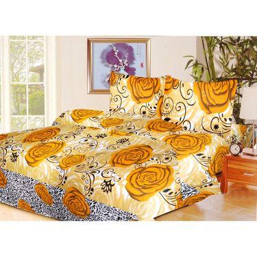 10 Piece Home Decor Combo (IWS 2 Bedsheet with 4 Pillow Covers + 2 Door Curtains + 2 Mats) -IWS-JC-19