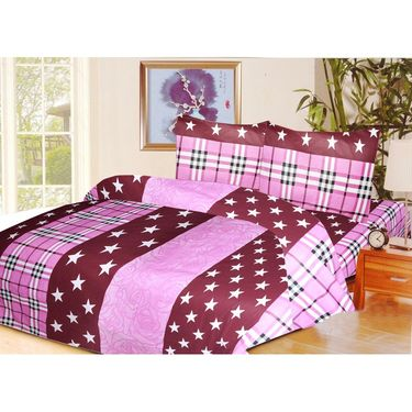10 Piece Home Decor  Combo (IWS 2 Bedsheet with 4 Pillow Covers + 2 Door Curtains + 2 Mats)