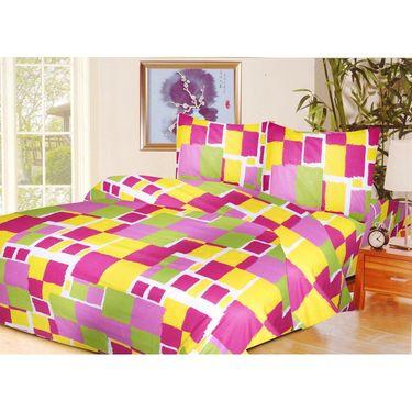 10 Piece Home Decor Combo (IWS 2 Bedsheet with 4 Pillow Covers + 2 Door Curtains + 2 Mats) -IWS-JC-26