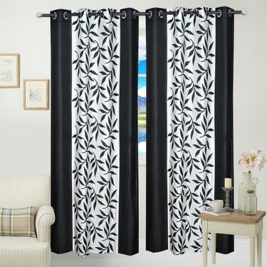 JBG Home Store Set of 2 Beautiful Design Door Curtains-JBG903_1BKD