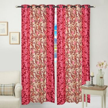 JBG Home Store Set of 2 Beautiful Design Door Curtains-JBG914_1PFD