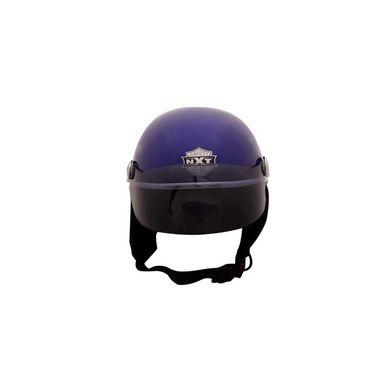 Autofurnish (JR-614) Smart Rider Pillion Unisex Helmet Jupiter (Blue) - Smoke Black Glass-JR-614