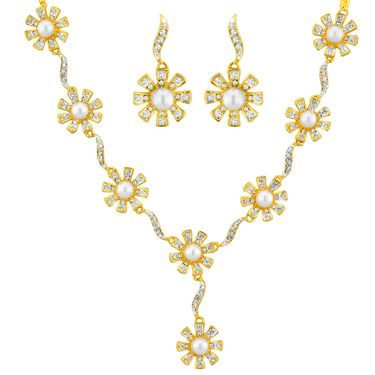 Jpearls Flora Pearl Necklace Set - NE4045