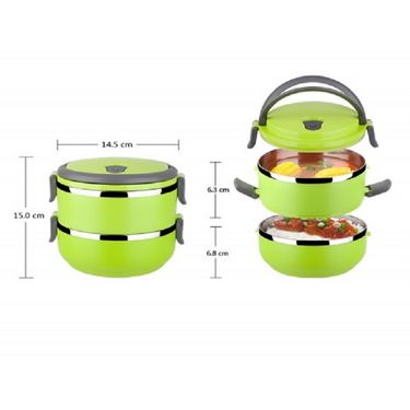 Kawachi Stainless Steel Double Layer heat preservation Lunch Box-K173