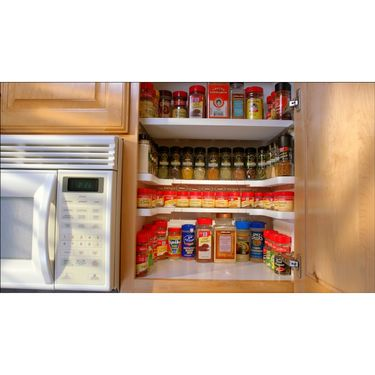 Kawachi Spicy Shelf Spice Rack Stackable Kitchen Organizer Jars & Cans Cosmetic Perfume k-221