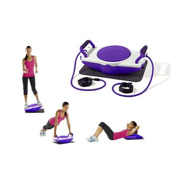 Kawachi Multi-Fit Plus Fitness Board Exerciser with Roller, Push Up Bar