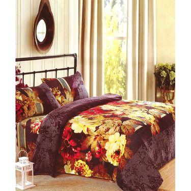 Amore Designer Printed Double Bed Soft Blanket-KDAW09