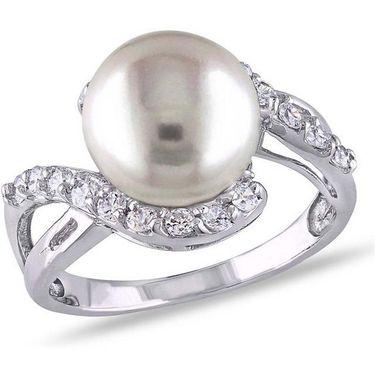 Kiara Swarovski Signity Sterling Silver Pooja Ring_Kir0744 - Silver