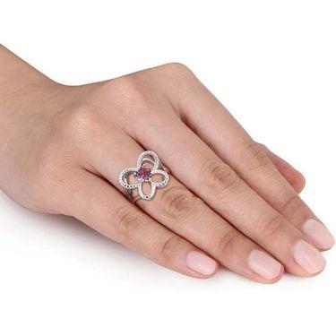 Kiara Swarovski Signity Sterling Silver Divyanka  Ring_Kir0792 - Silver