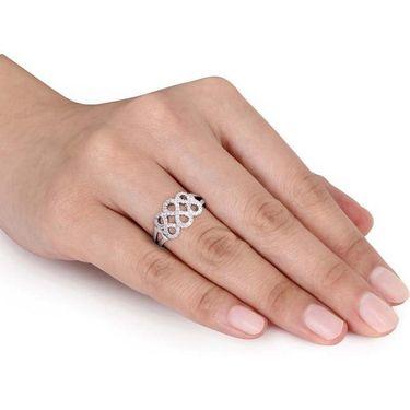 Kiara Swarovski Signity Sterling Silver Pranali Ring_Kir0802 - Silver